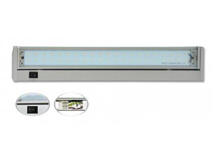Kuchyňské led podlinkové světlo 28xSMD, 5,5W, 37 cm, stříbrná ECOPLANET TL2016-28SMD/5-5W