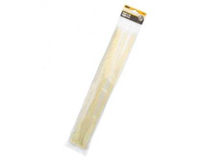 Stahovací pásky 4,8x500mm natural/25ks