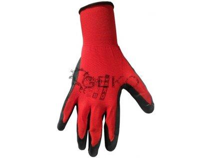 Pracovní rukavice červené - vel.10