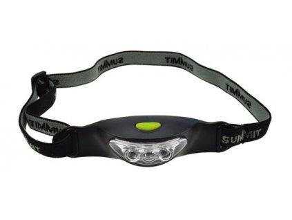 Solight čelová LED svítilna, 3x LED, černo-šedá, 2x CR2032