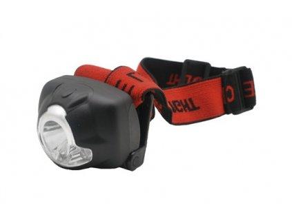 Čelová LED svítilna, 1W + 3x LED, černá, 3 x AAA Solight WH19