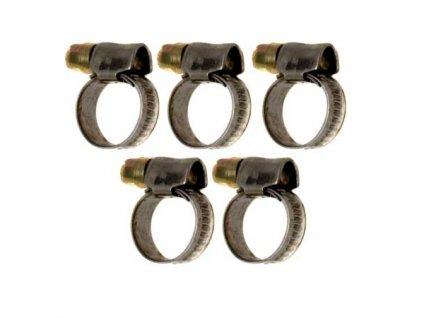 Sada hadicových spon 5ks 10-16mm - W1