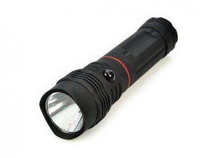 LED svítilna vysouvací, 3W COB + 1W, černá, 3x AAA Solight WL103