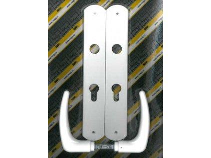 Klika plastová dveřní KLASIK 72 FAB XXL bílá