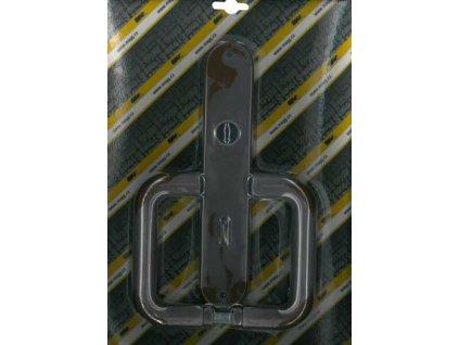 Klika plastová dveřní 72 dozická STANDARD hnědá