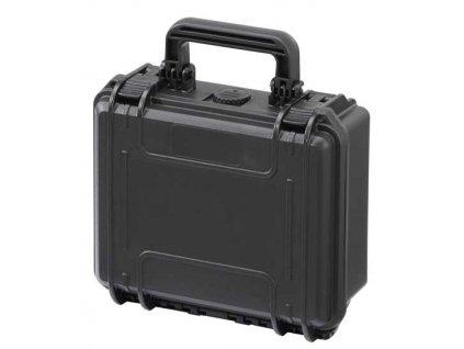 MAX Plastový kufr, 258x243xH 117,5mm, IP 67  + čtvercovaná pěna ve spodní části pro individuální úpravu