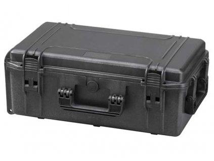 MAX Plastový kufr, 574x 61xH 225mm, IP 67  + čtvercovaná pěna ve spodní části pro individuální úpravu