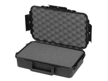 MAX Plastový box, 350x230xH 86mm, IP 67  + čtvercovaná pěna ve spodní části pro individuální úpravu