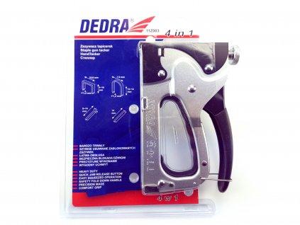 Ruční sponkovačka čalounická 4v1, 6-14 mm, regulace síly - sponyD11 DEDRA 11Z003