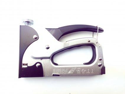Ruční sponkovačka čalounická 4v1, 6-14 mm, regulace síly - spony D11