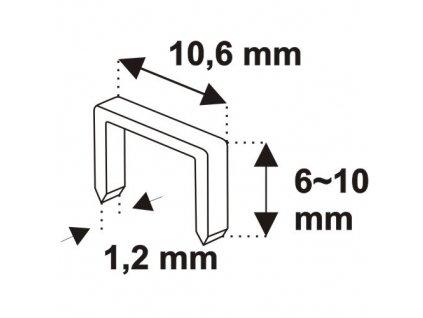 Robustní sponkovací kladivo 6-10 mm, spony D11