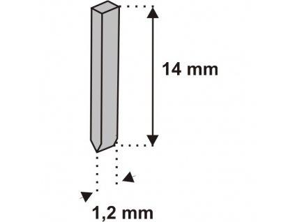 Nastřelovací kolíky do sponkovačky 14 mm 1000 ks tlouštka 1,2 vz. D11I DEDRA 11Z414