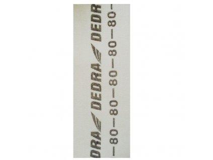 Brusná mřížka na sádrokarton 105x280 mm hrubost 80 bílá DEDRA 1541-080