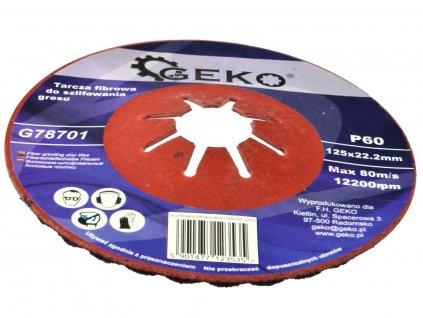 Fíbrový brusný kotouč na dlažbu (karbid křemíku) - 125x22,2 mm /P60 GEKO nářadí G78701