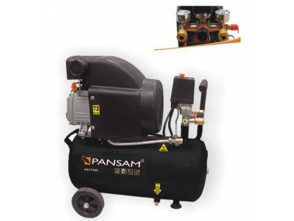 Půjčovna - Vzduchový kompresor olejový 1,5 kW 8 bar 24 l