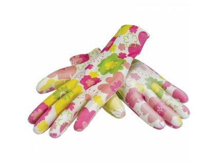 Pružné dámské rukavice na zahradu, vel. 7 DEDRA BH1008R07