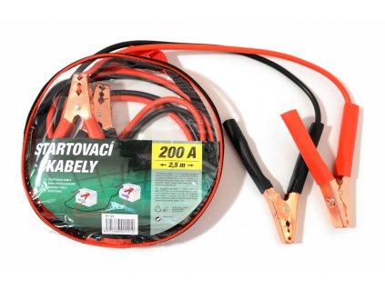 Startovací kabely 200A  2,5m zipper bag Compass 01121