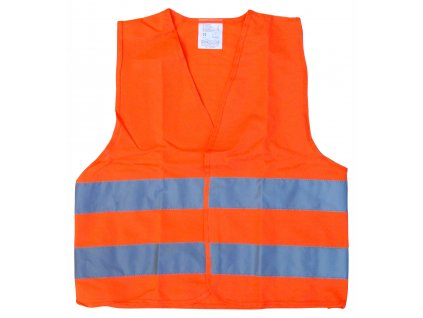 Vesta výstražná oranžová dětská EN 1150 Compass 01513