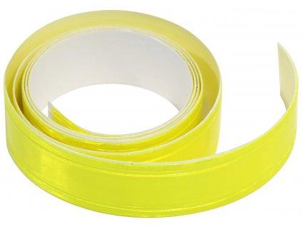 Samolepící páska reflexní 2cm x 90cm žlutá Compass 01584