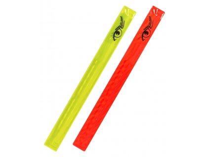 Pásek reflexní ROLLER 2ks žlutý + červený Compass 01709