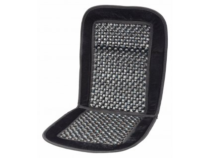 Potah sedadla kuličkový s lemem černý 93x44cm Compass 04108