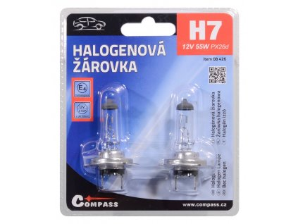 Žárovka 12V  H7  55W PX26d blister 2ks Compass 08426