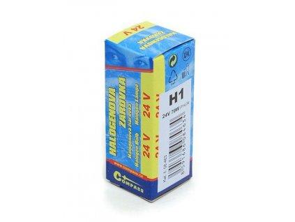 Žárovka 24V  H1  70W P14,5s box Compass 08463
