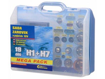Žárovky 12V servisní box MEGA H1+H7+pojistky Compass 08517