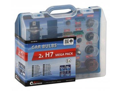 Žárovky 12V servisní box MEGA H7+H7+pojistky Compass 08518