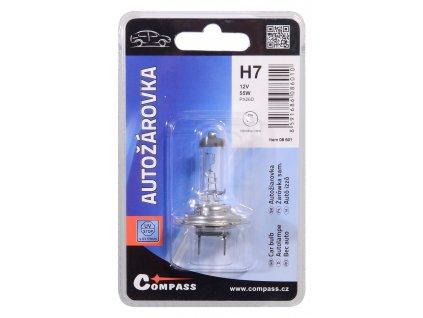 Žárovka 12V  H7  55W PX26d blister 1ks Compass 08601