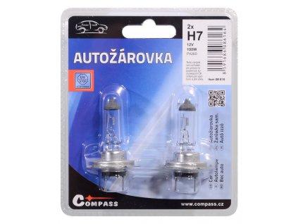 Žárovka 12V  H7  100W PX26d blister 2ks Compass 08616