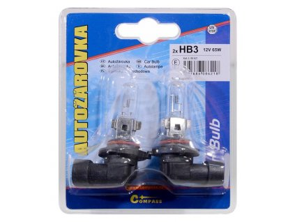 Žárovka 12V  HB3  60W P20d blister 2ks Compass 08621