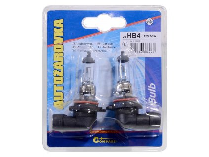 Žárovka 12V  HB4  51W P22d blister 2ks Compass 08622