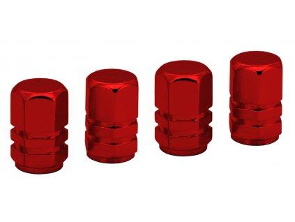 Ozdobné kryty ventilků červené Compass 32332