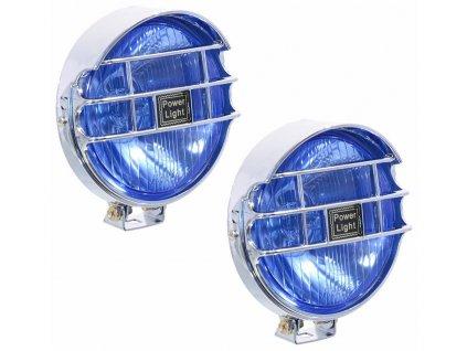 Přídavné dálkové kulaté světlo s mřížkou, sada 2 kusy. Materiál kov + plast, povrchová úprava chrom, sklo s nádechem modré barvy. Osazeno žárovkou H3. Rozměry (ŠxVxH) 128 x 128 x 75 mm (včetně uchycení). Tento výrobek není schválen pro provoz na pozemních komunikacích ČR. Určeno pro sportovní účely.