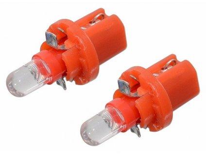 Žárovka 1LED 12V  B8,5d  červená 2ks Compass 33757