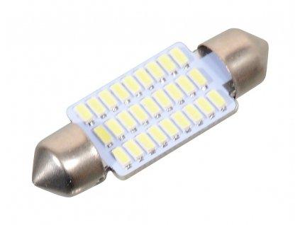 Žárovka 27 SMD LED 12V suf. SV8.5 38mm bílá Compass 33819