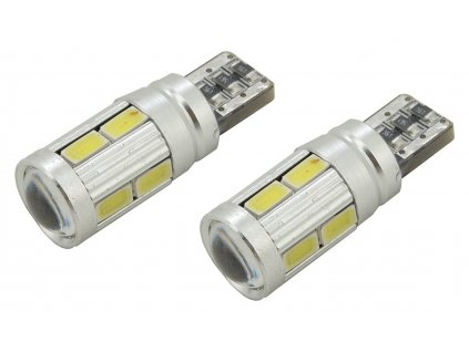 Žárovka 10 SMD LED 3chips 12V T10 CAN-BUS ready bílá 2ks Compass 33821