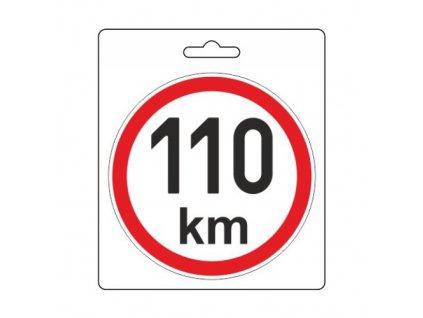 Samolepka omezená rychlost 110km/h (110 mm) Compass 34489
