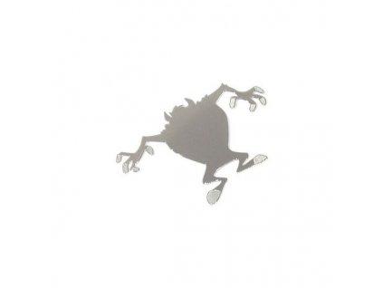 Samolepící kovová dekorace s lesklou povrchovou úpravou v kombinaci s jemným gravírováním. Elegantní doplněk automobilu - snadné nalepení. Vhodné i jako doplněk interiéru vozu.<br>Velikost motivu DEVIL malý: 44x30mm.