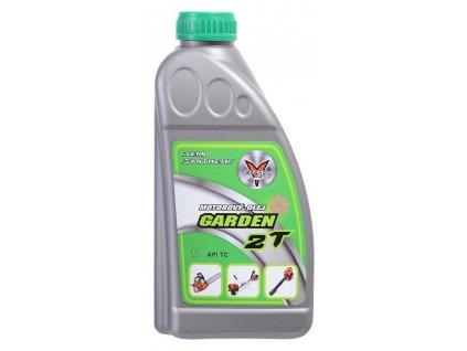 GARDEN 2T je polosyntetický olej vysoké výkonnosti pro vysokootáčkové dvoudobé motory.