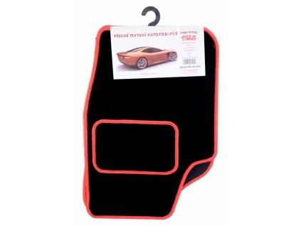 Autokoberce textilní bar.obšité Fabia I,červené Compass AM27508