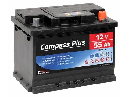 Autobaterie COMPASS PLUS 12V 55Ah 420A Compass AM27562