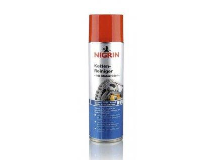 Čistí a odmašťuje řetězy motocklů. Vhodný pro O, Z a X-kruhové řetězy. Chrání před předčasným stárnutím a nečitotami. Po použití použijte Nigrin vazelínu ve spreji. Objem: 400ml.