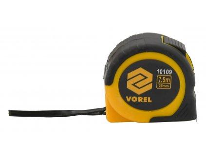 Metr svinovací 7,5 m x 25 mm žluto - černý Vorel TO-10109