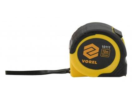 Metr svinovací 10 m x 25 mm žluto - černý Vorel TO-10111