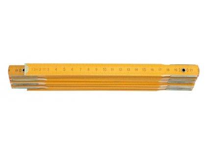 Metr skládací 2 m dřevěný žlutý Vorel TO-15020