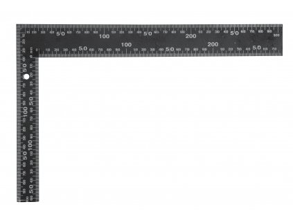 Úhelník truhlářský 400 x 600 mm černý Vorel TO-18200