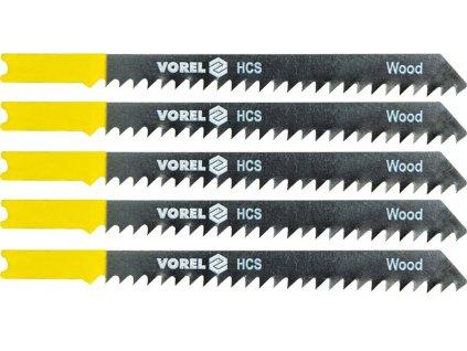 List do přímočaré pily 100 mm na dřevo a plast TPI6 5 ks Vorel TO-27830