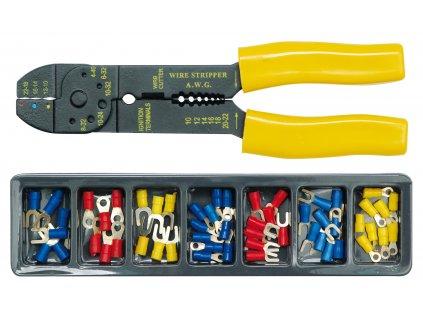 Kleště konektorové + konektory 100ks Vorel TO-45050